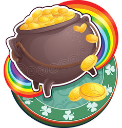 pot of gold on saint patrick day vector image