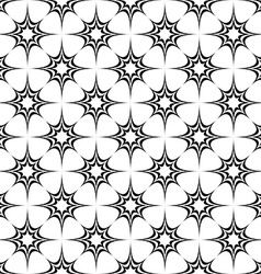 Seamless monochrome pattern from stars vector image vector image