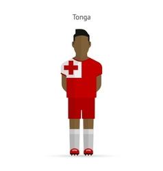 Tonga football player Soccer uniform vector image