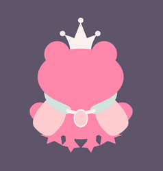 A cartoon frog prince with a crown without face vector