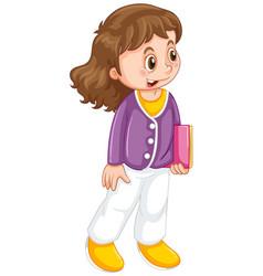 A cute female student vector