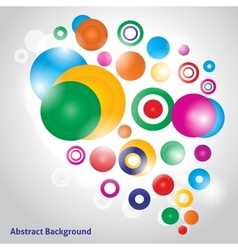 Abstract colorfull background with bubbles vector image