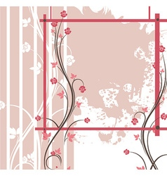 Abstract of a floral background with grunge vector