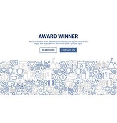 award banner design vector image
