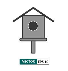 bird house feeder icon isolated on white eps 10 vector image