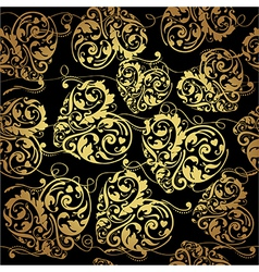 Black and golden pattern vector