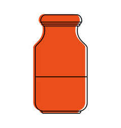 Bottle with liquid icon image vector