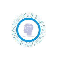 Brain hack hacking key mind glyph icon isolated vector