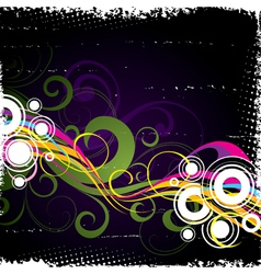 bright vegetative abstraction vector image