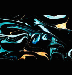 carbled dark blue and gold abstract background vector image