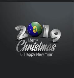 Christmas island flag 2019 merry christmas vector