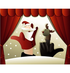 Christmas puppet show vector