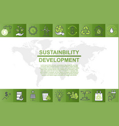 colorful poster design for sustainability vector image