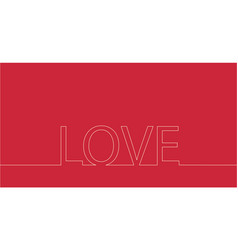 continuous line drawing word love stock vector image