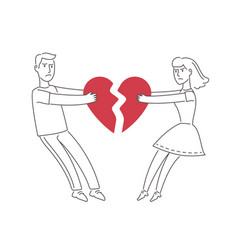 Couple in love quarreling divorce family vector