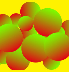 Creative backdrop in yellow green and red vector