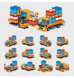 Cube World Orange truck vector image