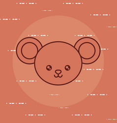 cute mouse icon image vector image