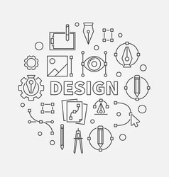 design round line graphic vector image