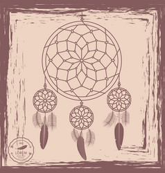 dream catcher grunge background vector image