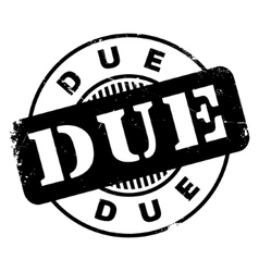 Due rubber stamp vector image