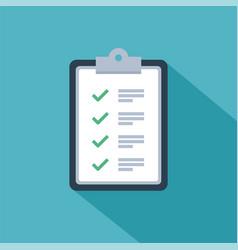 fast service brief checklist survey design vector image