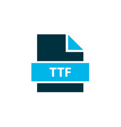 File ttf icon colored symbol premium quality vector