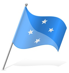 Flag of Micronesia vector