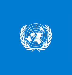 Flag united nations vector