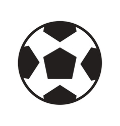 Flat icon in black and white style soccer ball vector