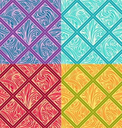 Four geometric patterns vector