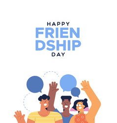 friendship day card teen friends talking vector image