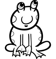 frog cartoon coloring page vector image