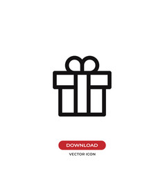 gift icon presentsurprise symbol flat sign vector image