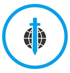 Globe Sword Icon vector image
