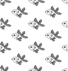 Goldfish seamless on white background vector
