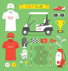Golf club golf vector