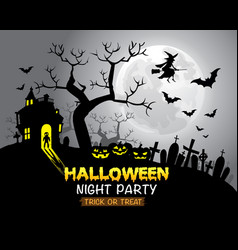 Halloween night party gray background vector