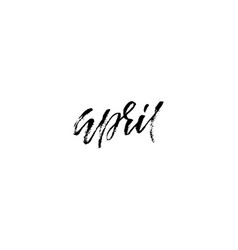Hand drawn typography lettering april month vector