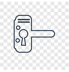 handle concept linear icon isolated on vector image