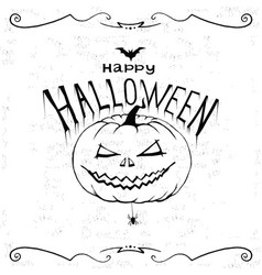 happy halloween print wall art poster vector image