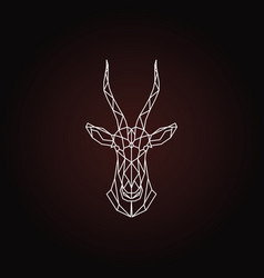 head antelope blesbok vector image