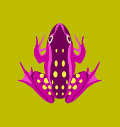 In flat style toad vector