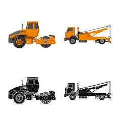 Isolated object of build and construction icon vector