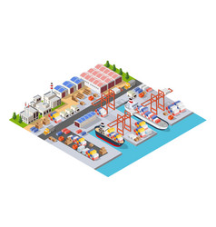 Isometric city boulevard vector