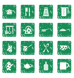 Kitchen tools and utensils icons simple style vector