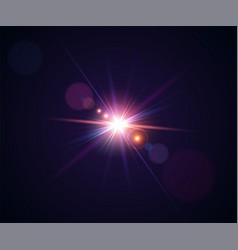 Light effects realistic lens flare with bokeh vector
