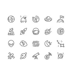 line space icons vector image
