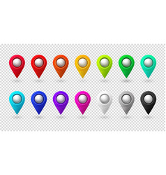 map location pointer 3d arrow color navigation vector image