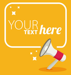 megaphone text bubble card with place for your vector image